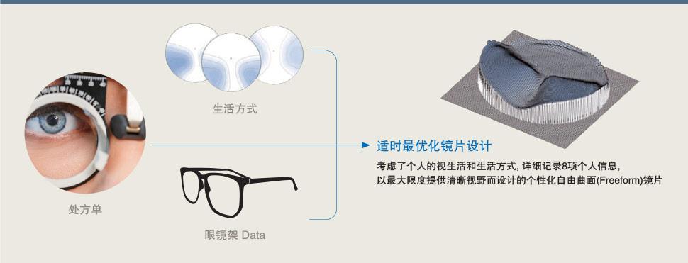 通过适时最优化技术进行设计的个性化镜片