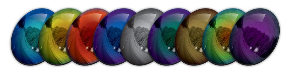 施耐德独有的多种多样的染色, 反射膜色彩